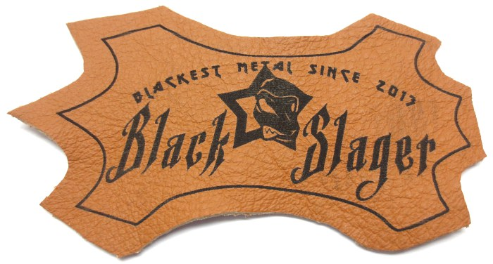 Black Slager borwn leather patch